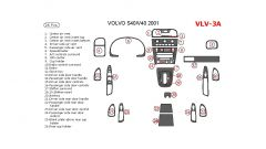 Volvo S40/V40 2001 interior dash kit, 26 Pcs.