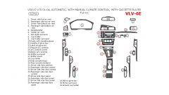 Volvo V70 2001-2004 full interior dash kit, Automatic, With Manual Climate Control, With Cassette Player, 31 Pcs.