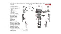 Volvo V70 2001-2004 full interior dash kit, Automatic, With Digital Climate Control, With Cassette Player, 32 Pcs.
