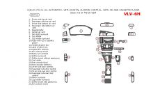 Volvo V70 2001-2004 basic interior dash kit or OEM MatchAutomatic, With Digital Climate Control, With CD And Cassette Player, 28 Pcs.