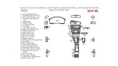 Volvo V70 2001-2004 basic interior dash kit or OEM Match, Automatic, With Digital Climate Control, With Cassette Player, 28 Pcs.