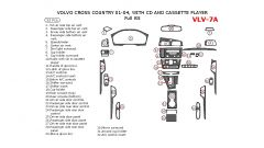 Volvo Cross Country 2001-2004 full interior dash kit, With CD and Cassette Player, 32 Pcs.
