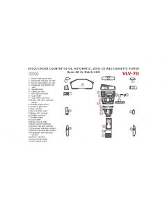 Volvo Cross Country 2001-2004 basic interior dash kit, With CD and Cassette Player, 27 Pcs.