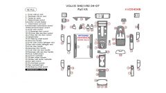 Volvo S40/V50 2004-2007 full interior dash kit, 46 Pcs.