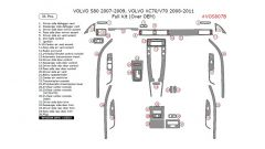 Volvo S80 2007-2009, Volvo V70/XC70 2008-2011 full interior dash kit (Over OEM), 36 Pcs.
