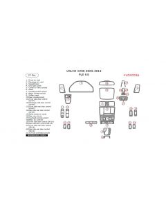 Volvo XC90 2003-2014 full interior dash kit, 27 Pcs.