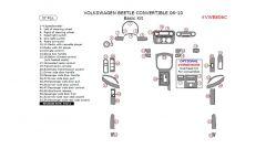 Volkswagen Beetle 2006-2010 basic interior dash kit, Convertible, 37 Pcs.