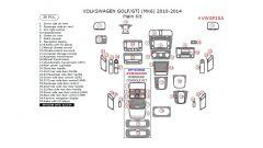 Volkswagen Golf /Golf GTI 2010-2014 main interior dash kit, 36 Pcs.