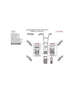 Volkswagen Tiguan 2009-2011 interior dash kit, Addition To Main Kit, 21 Pcs.