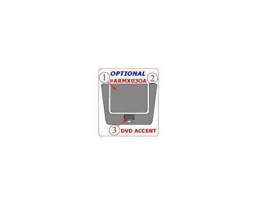 Acura MDX 2001-2006 interior dash kit, Optional DVD Entertainment System Accent, 3 Pcs., Match OEM
