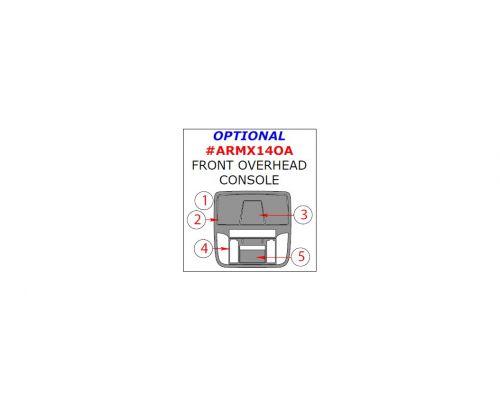 Acura MDX 2014-2016 interior dash kit, Optional Front Overhead Console, 5 Pcs., Match OEM