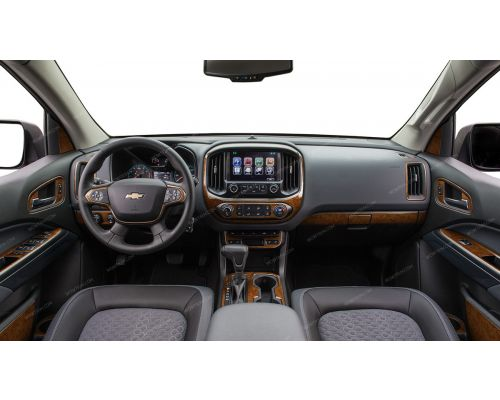 Chevrolet Colorado 2015-2021, GMC Canyon 2015-2021, Crew Cab, Full Interior Dash Kit, 41 Pcs.