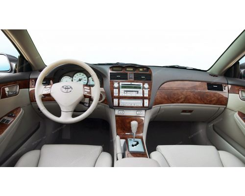 Toyota Camry Solara 2004-2008 full interior dash kit, SLE, Coupe, Over OEM, Without Navigation System, 48 Pcs.