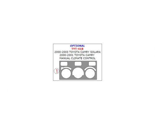 Toyota Camry 2000-2001/Toyota Camry Solara 2000-2003 interior dash kit, Manual Climate Control, 1 Pc.