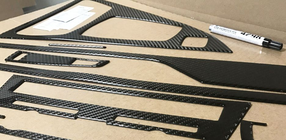 Real Carbon Fiber Flat Dash Kit