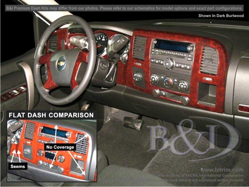 Details of Molded Dash Interior Kit
